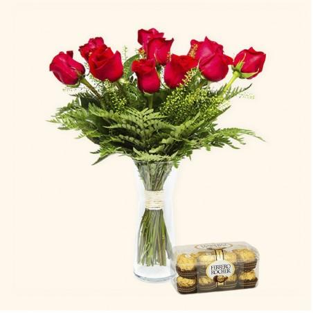 Pack 12 Rosas Rojas +...
