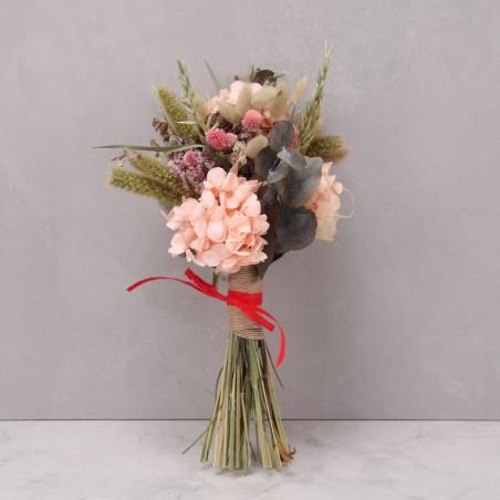 Ramo hortensia preservada rosa