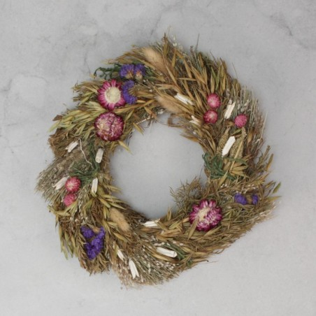 Corona de flores secas 22cm